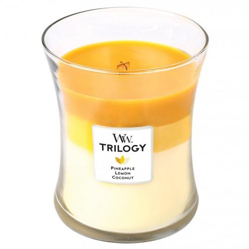 Svíčka Trilogy WoodWick Plody léta, 275 g