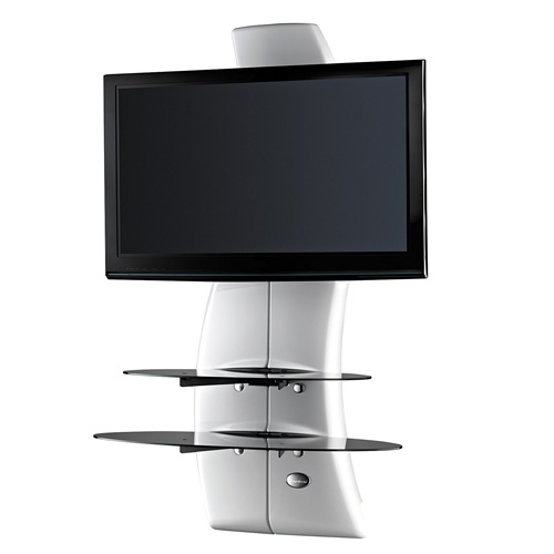 """Meliconi GHOST DESIGN 2000 WHITE Wall Fixture for 32"""" to 63"""" screens"""
