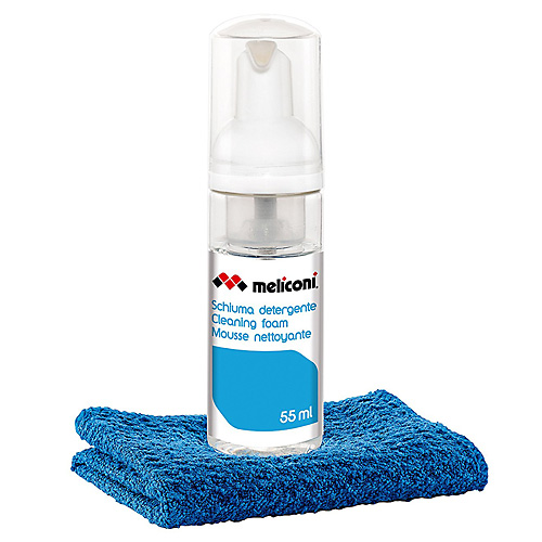 Čisticí pěna Meliconi C55 Foam, s utěrkou z mikrovlákna, 55 ml