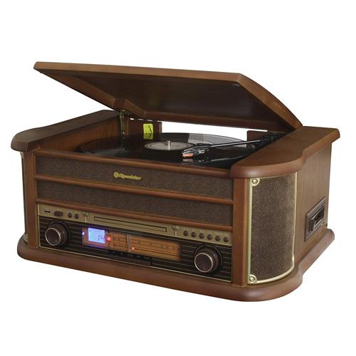 Roadstar WOODEN  HI-FI SYS WITH  AUTOSTOP TT, CD-MP3, ANALOG AM-FM RA