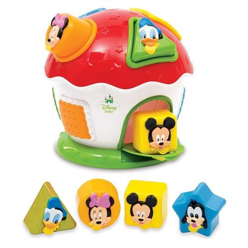 Vkládací domeček Baby Clementoni Mickey Mouse a kamarádi