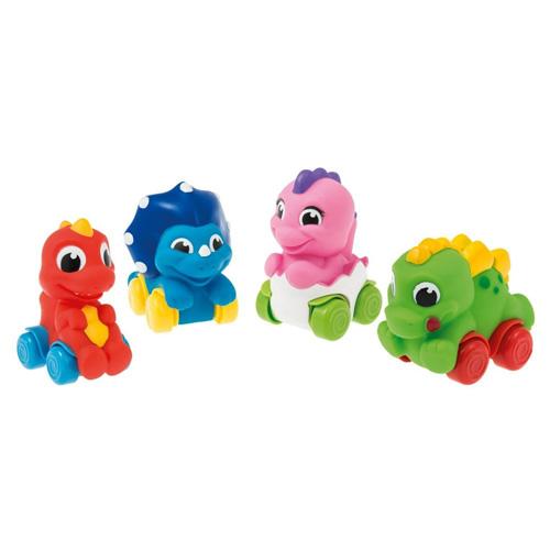Dinosauři na kolečkách Clementoni Soft & Go, 4 druhy