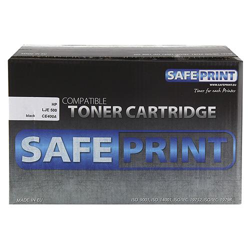 Toner SafePrint black | 5500pgs | HP CE400A | LJE 500 M551dn Laserové tlačiarne | tonery |
