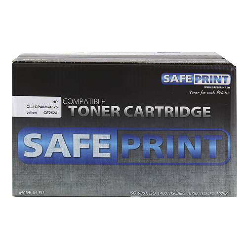 Toner SafePrint yellow | 11000str | HP CE262A | LJ CP4025/45 Laserové tlačiarne | tonery |