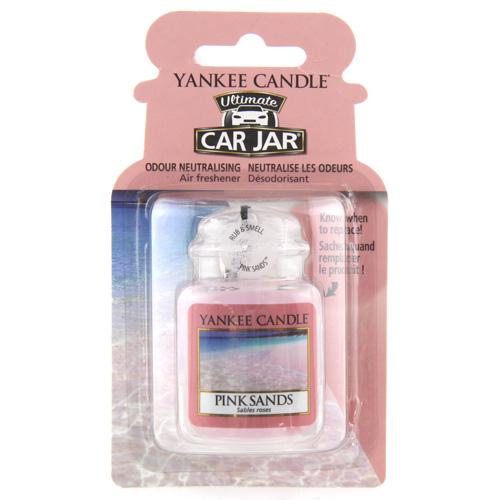 Osvěžovač do auta Yankee Candle Růžové písky, 1x visačka