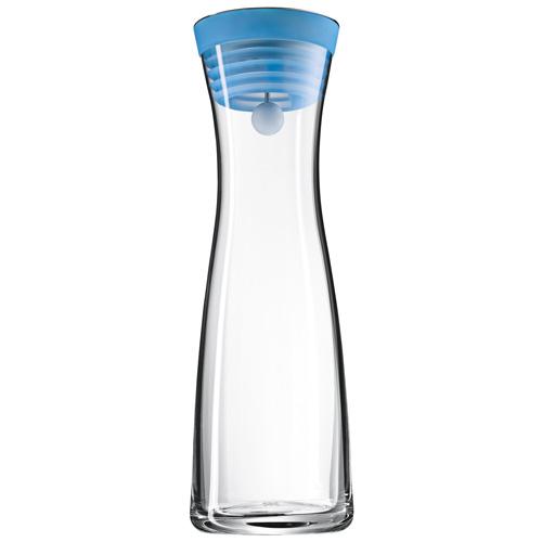 Karafa na vodu WMF Objem 1 l - skleněná karafa Basic, barva modrá