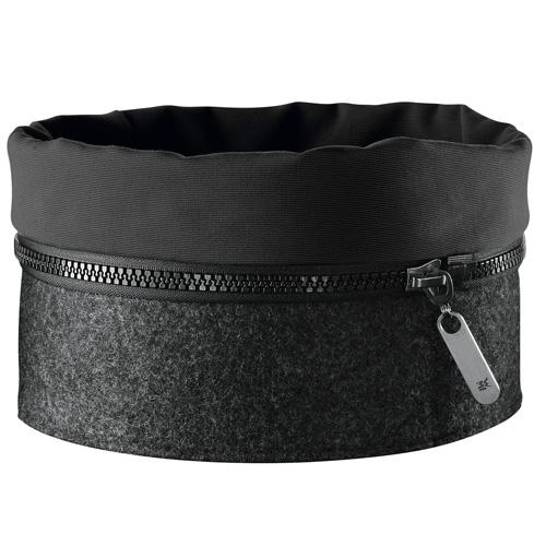 Košík na pečivo WMF 22,5 x 11 cm - filcový košík Zipp, barva černá