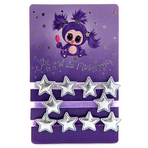 Gumičky Ylvi and the Minimoomis 3 ks - velurované, odstíny fialové
