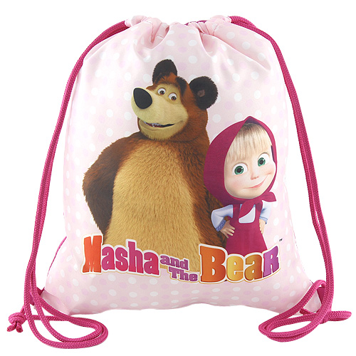Sportovní vak Target Masha and The Bear, barva růžová