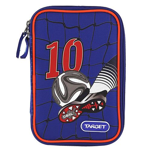 Goal Školní penál s náplní Target Fotbal - modrá