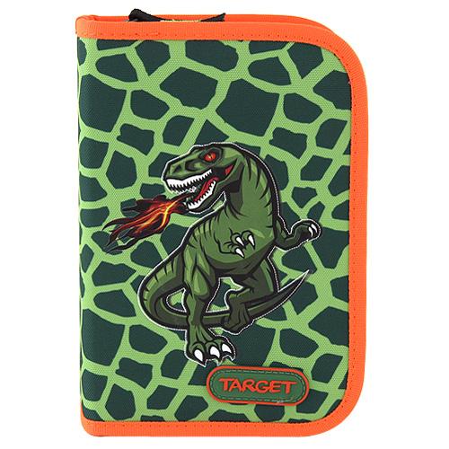 Školní penál s náplní Target T-Rex - zelená