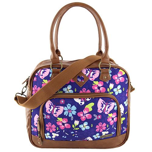 Taška přes rameno Target Marshmallow/barevné květy, modrá
