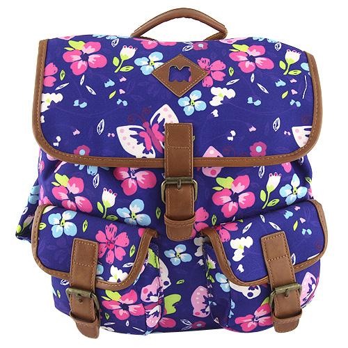 Batoh Target Marshmallow/barevné květy, modrý