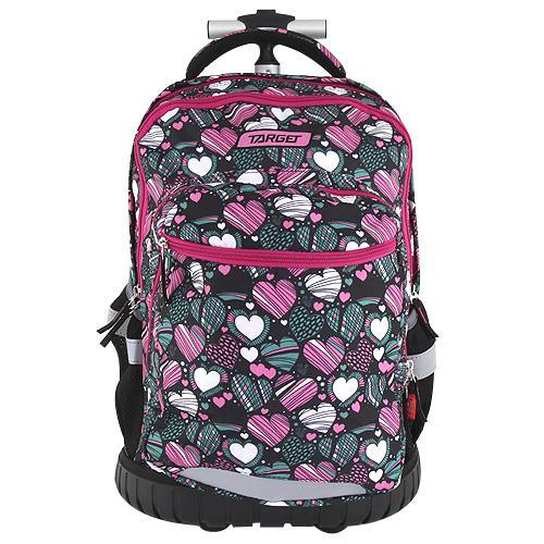 Školní batoh trolley Targett Zeleno-růžový