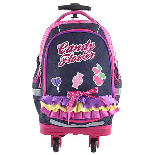 Školní batoh trolley Targett Candy Flower, fialová
