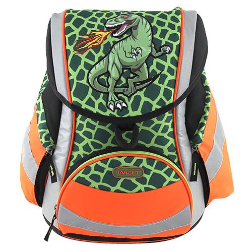 Školní aktovka Target T-Rex - reflexní, zelená