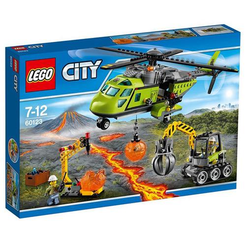 Stavebnice LEGO City Sopečná zásobovací helikoptéra, 330 dílků