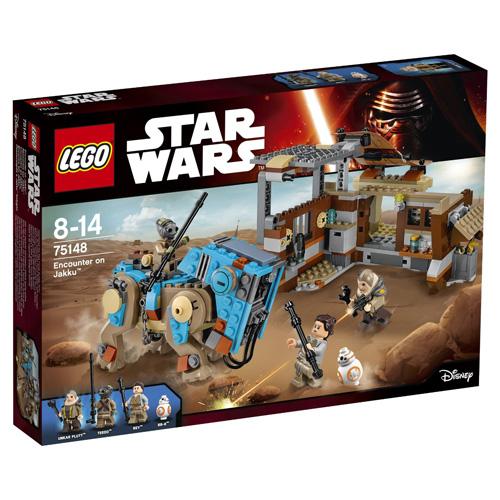Fotografie Stavebnice LEGO Star Wars Setkání na Jakku, 530 dílků