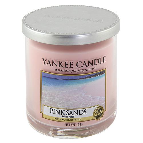 Svíčka ve skleněném válci Yankee Candle Růžové písky, 198 g