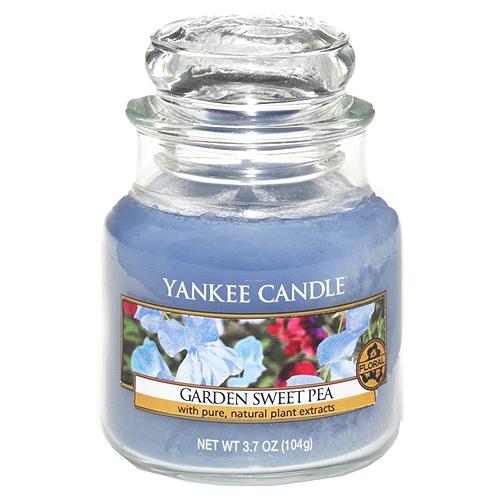 Svíčka ve skleněné dóze Yankee Candle Květy ze zahrádky, 104 g