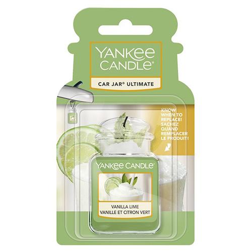 Osvěžovač do auta Yankee Candle Vanilka s limetou, 1x visačka