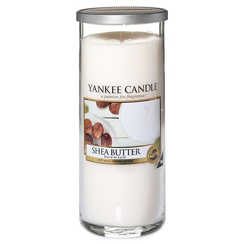 Svíčka ve skleněném válci Yankee Candle Bambucké máslo, 566 g