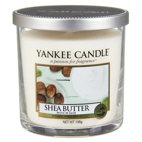 Svíčka ve skleněném válci Yankee Candle Bambucké máslo, 198 g
