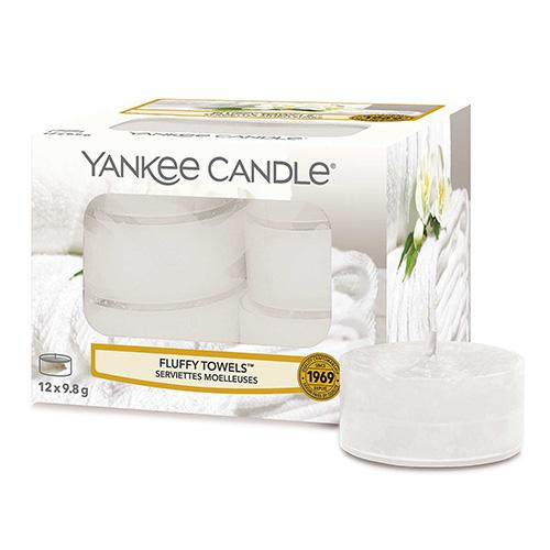 Svíčky čajové Yankee Candle Načechrané ručníky, 12 ks