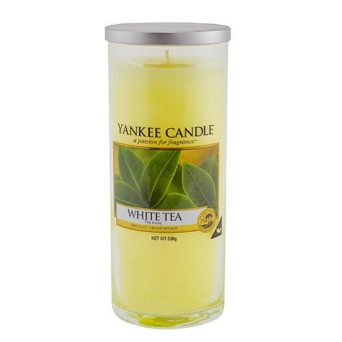 Svíčka ve skleněném válci Yankee Candle Bílý čaj, 566 g