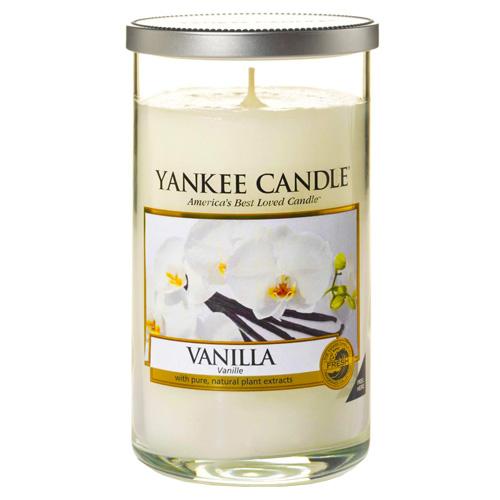 Svíčka ve skleněném válci Yankee Candle Vanilka, 340 g
