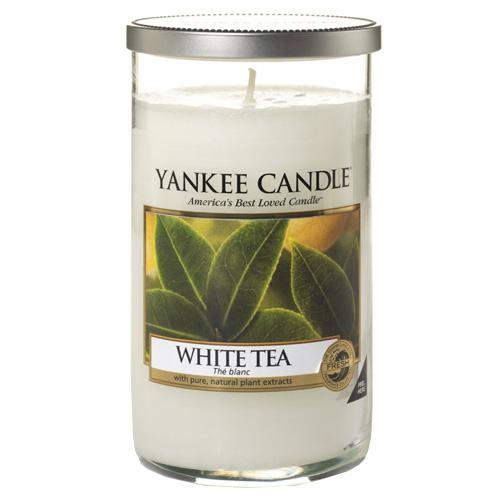 Svíčka ve skleněném válci Yankee Candle Bílý čaj, 340 g