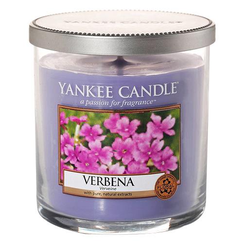 Svíčka ve skleněném válci Yankee Candle Verbena, 198 g