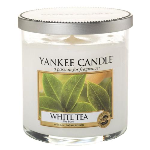 Svíčka ve skleněném válci Yankee Candle Bílý čaj, 198 g