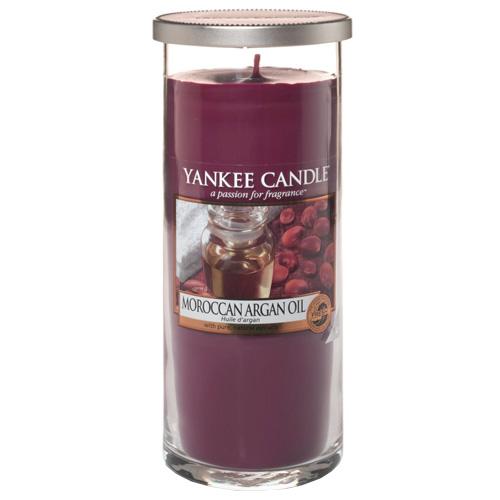Svíčka ve skleněném válci Yankee Candle Marocký arganový olej, 566 g