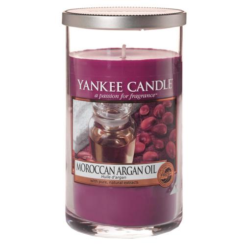 Svíčka ve skleněném válci Yankee Candle Marocký arganový olej, 340 g