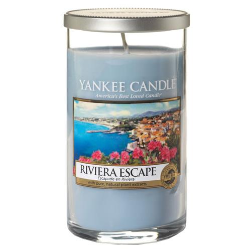 Svíčka ve skleněném válci Yankee Candle Hurá na riviéru, 340 g