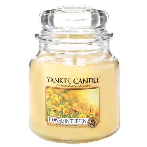 Svíčka ve skleněné dóze Yankee Candle Květiny na slunci, 410 g