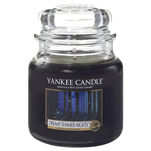 Svíčka ve skleněné dóze Yankee Candle Zasněné letní noci, 104 g