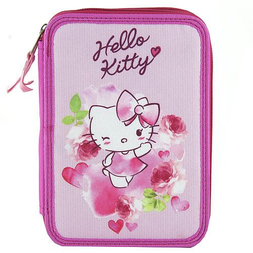 Školní penál s náplní Target Hello Kitty, barva růžová