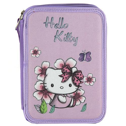 Školní penál s náplní Target Hello Kitty, barva fialová