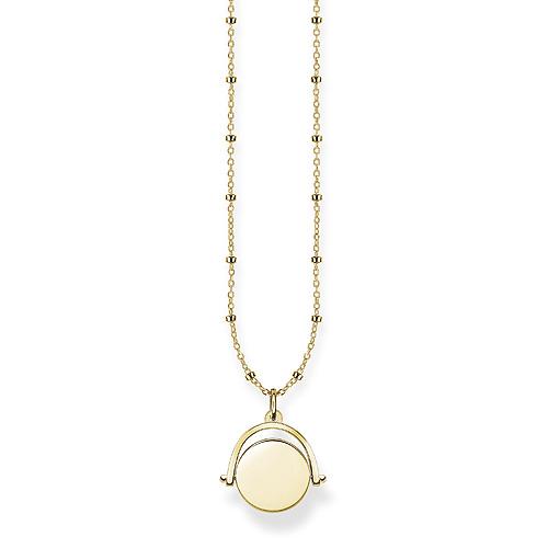 "Náhrdelník ""Žeton"" Thomas Sabo LBKE0003-413-12-L45v, Love Bridge, 925 Sterling silver, 18k"