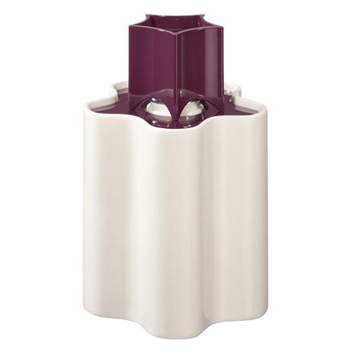 Katalytická lampa Lampe Berger Paris Little Flower, bílo/fialová, výška 16,5 cm
