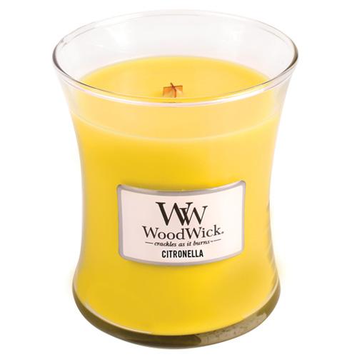 Svíčka oválná váza WoodWick Citronela, 275 g