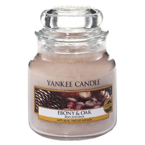 Svíčka ve skleněné dóze Yankee Candle Eben a dub, 104 g