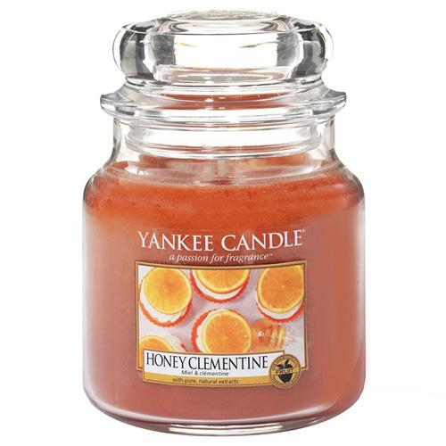 Svíčka ve skleněné dóze Yankee Candle Klementinka s medem, 410 g