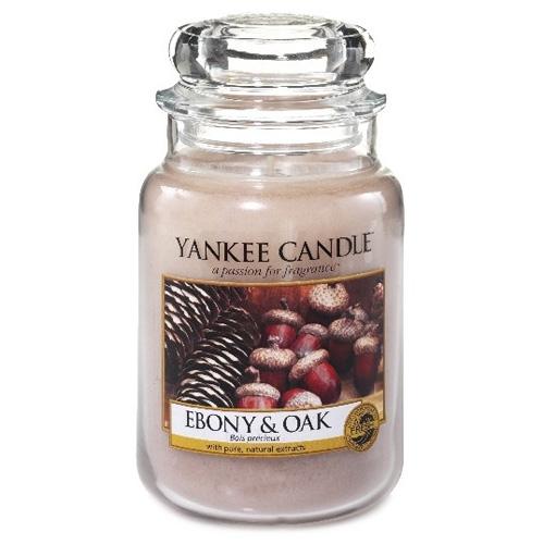 Svíčka ve skleněné dóze Yankee Candle Eben a dub, 623 g