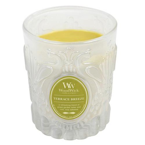 Svíčka skleněná váza WoodWick Vánek na terase, 198.4 g