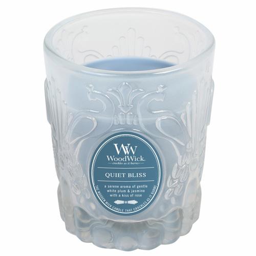 Svíčka skleněná váza WoodWick Blažený klid, 198.4 g