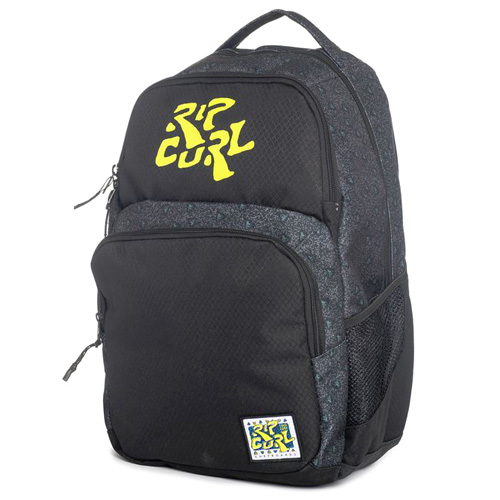 Rip Curl 100% SURF DOUBLE UP BACK PACK  | 100% POLYESTER  | BLACK  -  90 | 700 g | TU