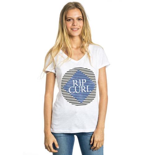 Rip Curl BEHOBIE TEE SS TEE SHIRT  | 100% COTON  | OPTICAL WHITE  -  3262 | 140 g